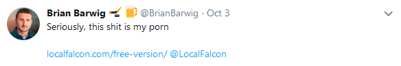 Twitter Feedback - Brian Barwig Local Falcon