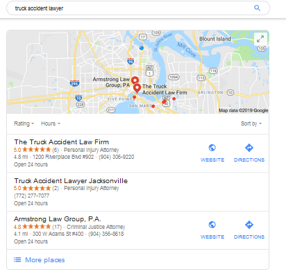 Rank on Google for Truck Accident Lawyer
