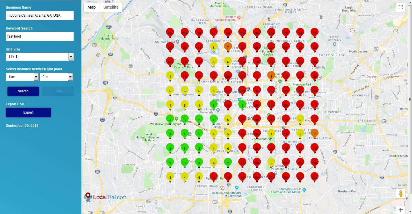 Multi-Location Business Rank Scan